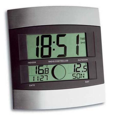 funk wanduhr mit aussentemperatur wetterstation24. Black Bedroom Furniture Sets. Home Design Ideas