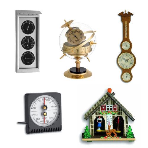 Mechanische Thermometer, Hygrometer, Barometer
