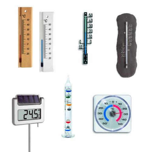 Mechanische Thermometer für Innen und Außen