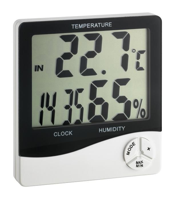 Digitales Thermo-Hygrometer mit Uhrzeitanzeige