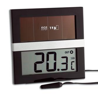 'ECO Solar' Digitales Solar Innen-Außen-Thermometer