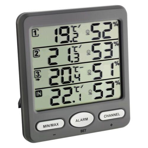 'Klima-Monitor' Funk-Thermo-Hygrometer inklusive 3 Sender
