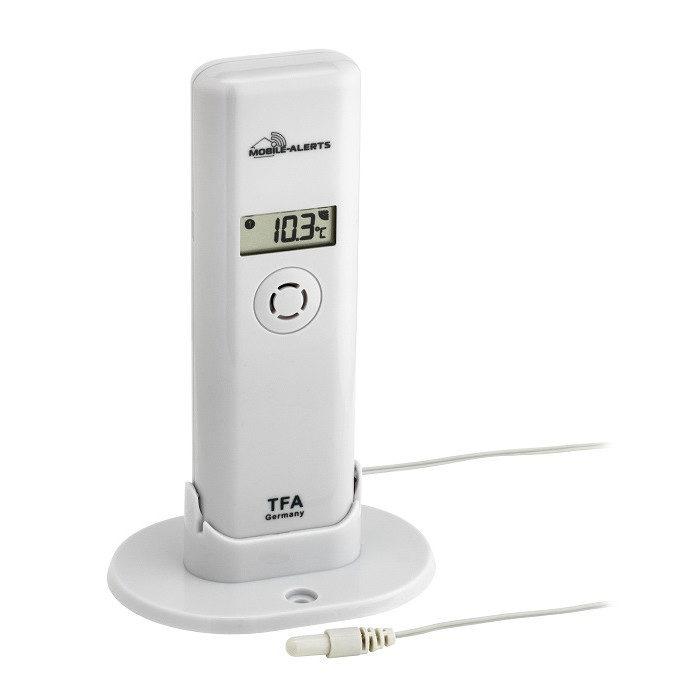 Temperatur/Feuchte-Sender mit wasserfestem Temperatur-Kabelfühler passend für 'WEATHERHUB' System