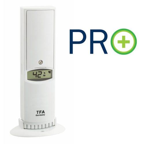 Temperatur/Feuchte-Sender PRO-Funktionen passend für WeatherHub-App und WH Observer-Plattform