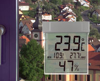 'Vision' Digitales Fenster- Thermo-Hygrometer