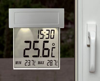 'Vision Solar' Digitales Fensterthermometer